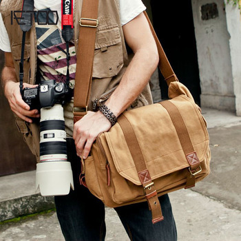 AETOO Factory direct personalized shoulder single shoulder camera bag retro leisure canvas bag