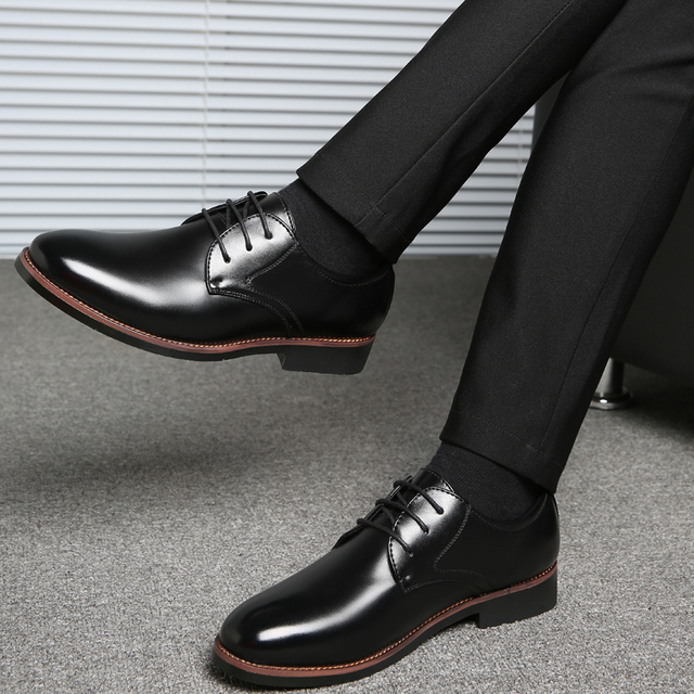 Mens dress PU leather shoes