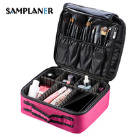 Samplaner Women Cosmetic Bags Professional Makeup Bag Travel Organizer Case Beauty Make Up Storage Bags Necessary
