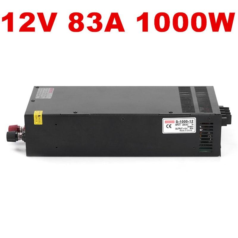 где купить 5PCS 1000W 12V 80A LED power 12V Power Supply 12V 80A AC-DC High-Power PSU 1000W 110/220VAC по лучшей цене
