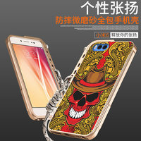 Cool Fashion 3D Stereo Relief Painting Skeleton Skull Patterned Aluminum Metal Bumper Frame Cover For Xiaomi