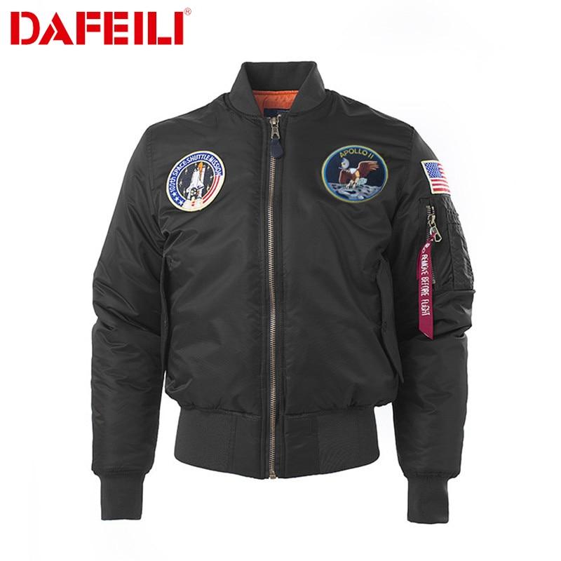 Winter Puffer Ma 1 USA Apollo Flight Jacket Men Women Coat tactical outdoor waterproof police military