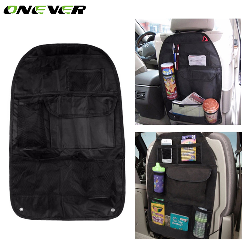 onever car seat back hanging bag travel auto waterproof multi pocket organizer storage bags with. Black Bedroom Furniture Sets. Home Design Ideas