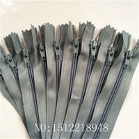 50pcs ( 12 Inch ) 30cm Gray Nylon Coil Zippers Tailor Sewer Craft Crafter's &FGDQRS #3 Closed End