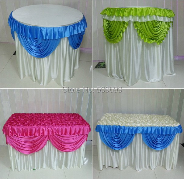 2016 new arrival 3d wedding table cloth round rectangle dessert