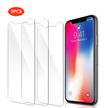 3PCS กระจกนิรภัยสำหรับ iphone 8 plus screen protector สำหรับ iphone 7 plus สำหรับ iphone X XR XS MAX 6 6s 5 5S 5C SE 4 4S