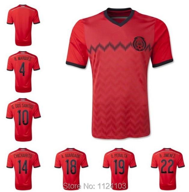 2014 world cup brazil Mexico Men away red soccer jerseys American football  shirt top thailand national team brand logo Bingo 4f058ec26ac