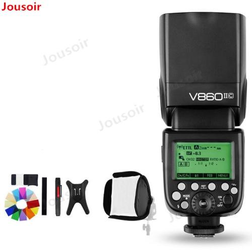 Godox Ving V860II V860II-C/N/S/F/O TTL HSS 1/8000 batterie li-ion Speedlite Flash pour C N S Fuji O L DSLR CD45