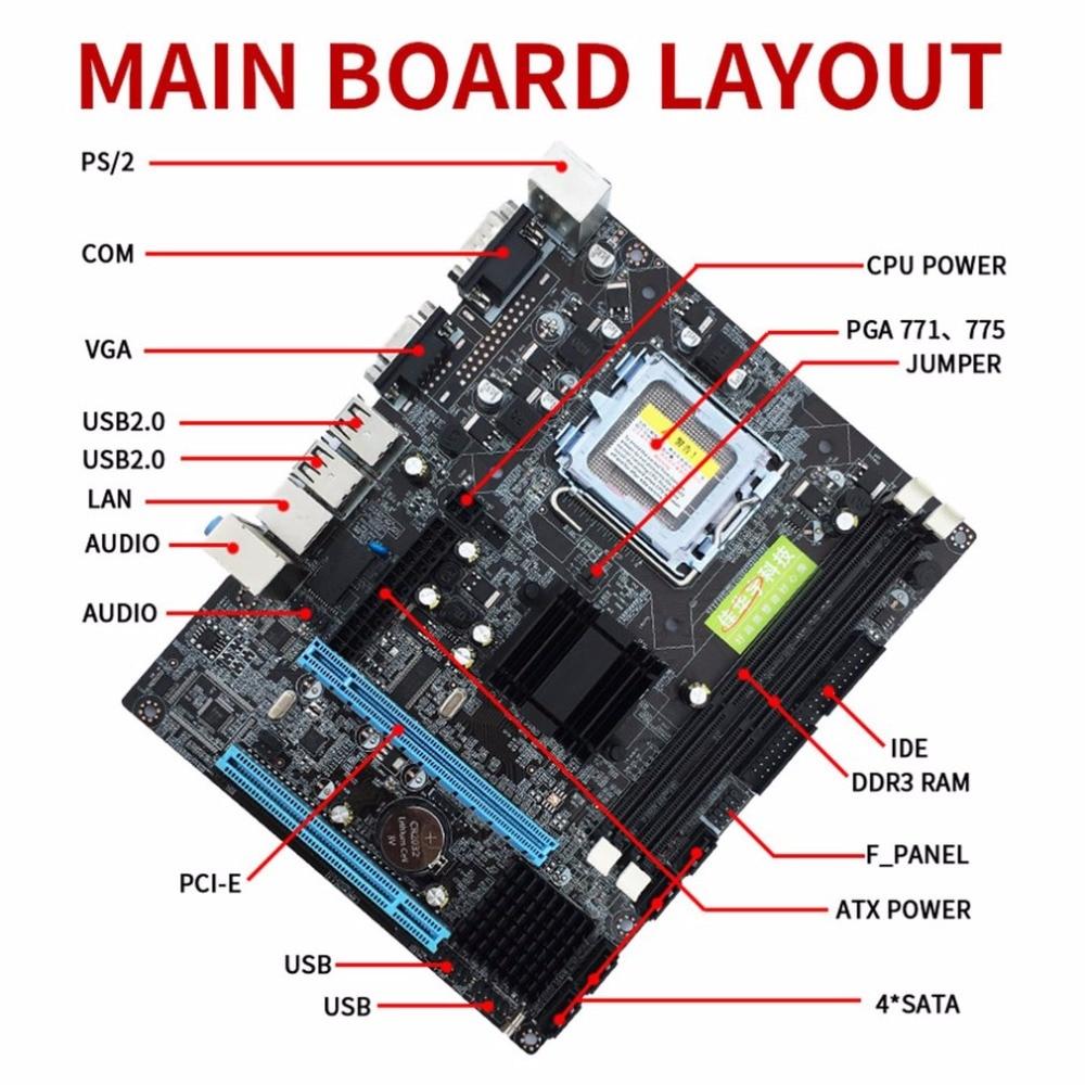 все цены на G41 Desktop MotherBoard LGA775 Quad-core E5430 Combo Set 2.66G CPU + 4G Memory + Silent Fan Computer Modification Supplies онлайн