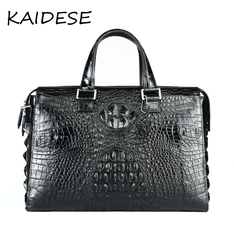 KAIDESE 2017 new fashion business men bag leather large capacity briefcases leather crocodile men's handbag free of post yuanyu 2018 new hot free shipping crocodile handbag leather handbag handbag lock high capacity crocodile leather women bag