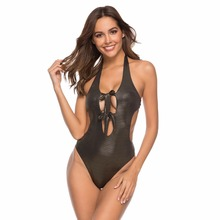 Swimsuit Summer Swimwear Women Sexy 1Piece Bikini Set High Cut Bathing Suit Beachwear Cut Out Monokinis geometric pattern ladder cut out swimsuit