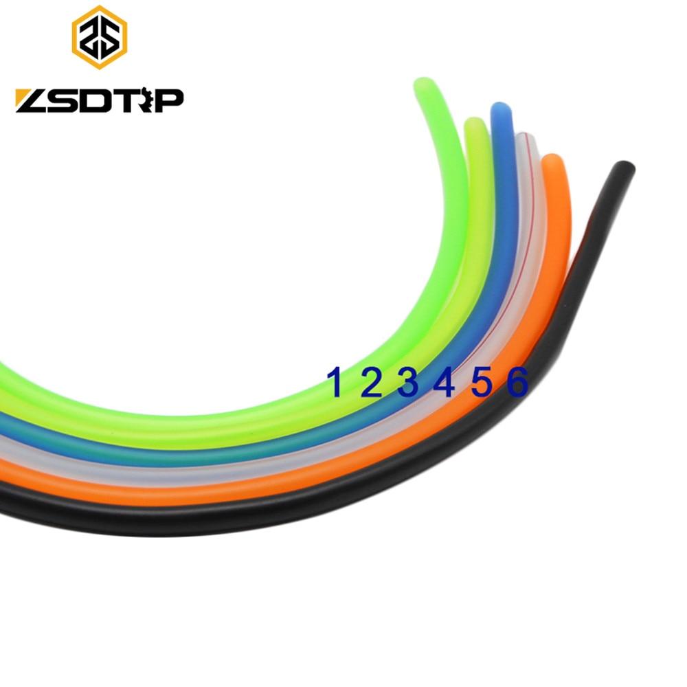 Envío gratis ZSDTRP seis colores 2 metros de longitud scooter modificar gasolina Tubo de tuberías de combustible para KTM exc duke 200 390 Force X JOG