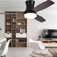Minimalist Ceiling Fans Lamps With Lights For Living Room Wooden Blades Retro Ceiling Fan Ceiling lights 42/52 inch