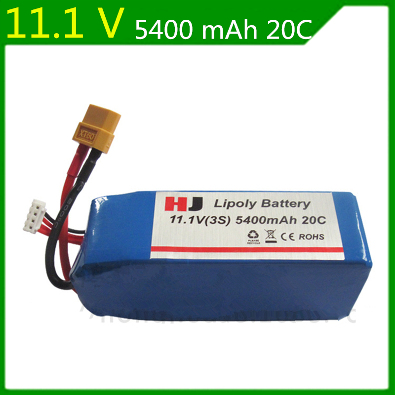 11.1V 5400mAh Authentic WLtoys X380V303V393 CX-20 four-axis aircraft 11.1V 5400mAh Lithium Battery protective pc case with 5400mah rechargeable lithium battery