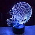 Increíble Ilusión 3D Halcón Milenario de Iluminación led Lámpara de Mesa Luz de La Noche Gradiente de Colores Atmósfera luz de La Noche de Regalos