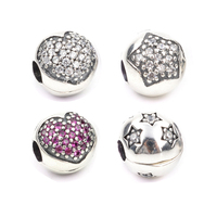 Clip Safety Stopper Beads Original Bead Charm Fit Pandora Bracelet 925 Sterling Silver Bead Jewelry Making