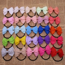 200pcs lot Baby Ribbon Bow Headbands Elastic Band Ponytail Hair Holder Boutique Bows Fashion Hair Accessories
