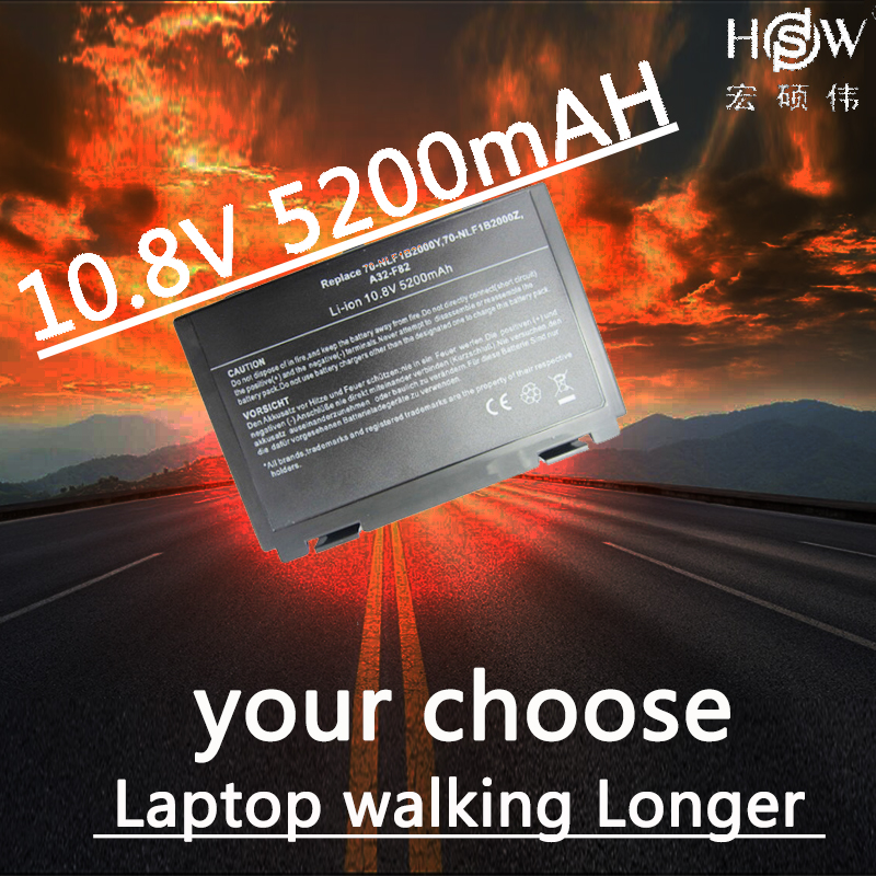 Hsw New Laptop computer Battery For Asus Ok50Ij Ok50Ab Battery For Laptop computer Ok40In Ok50In F52 F82 Ok40 Ok50 A32-F52 A32-F82 Alternative Battery