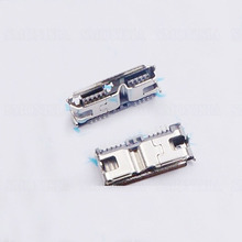 3.0 Micro Female Socket 10 Pin USB Mobile hard Disk Connector 10P