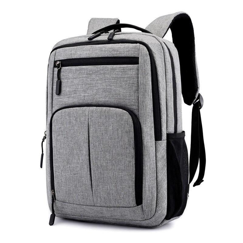 Männer 15,6 Zoll Laptop Rucksack Große Kapazität Computer Männlichen Schule Rucksäcke Rucksäcke Für Teenager Mochila Escolar Grau Tasche Herrentaschen