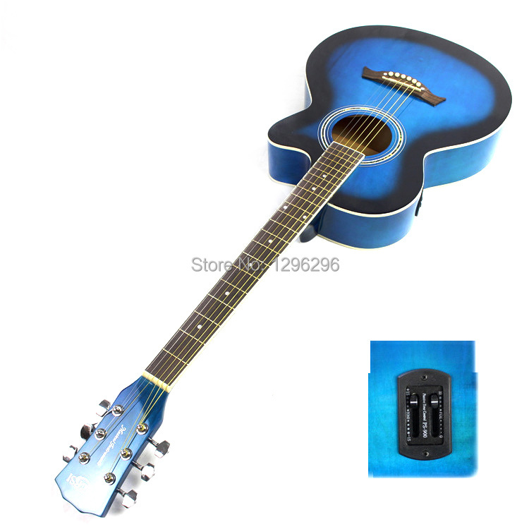 free shipping 39inch blue guitar eq 10pcs guitar accessories electric box guitar about 98 cm in. Black Bedroom Furniture Sets. Home Design Ideas