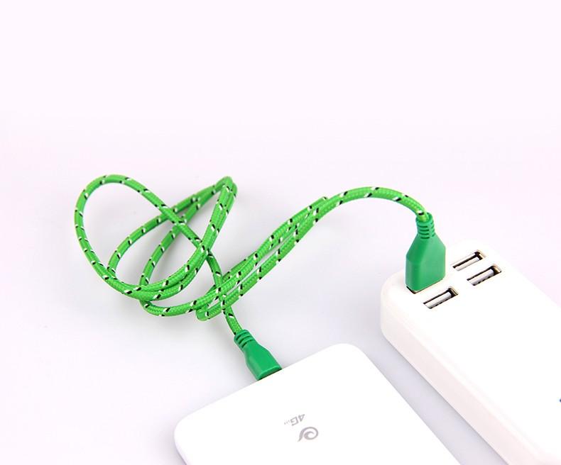 1 m/2 m/3 m materiał nylon pleciony micro usb cable ładowarka synchronizacji danych przewód usb do samsung galaxy xiaomi htc 8 kolory dostępne 5