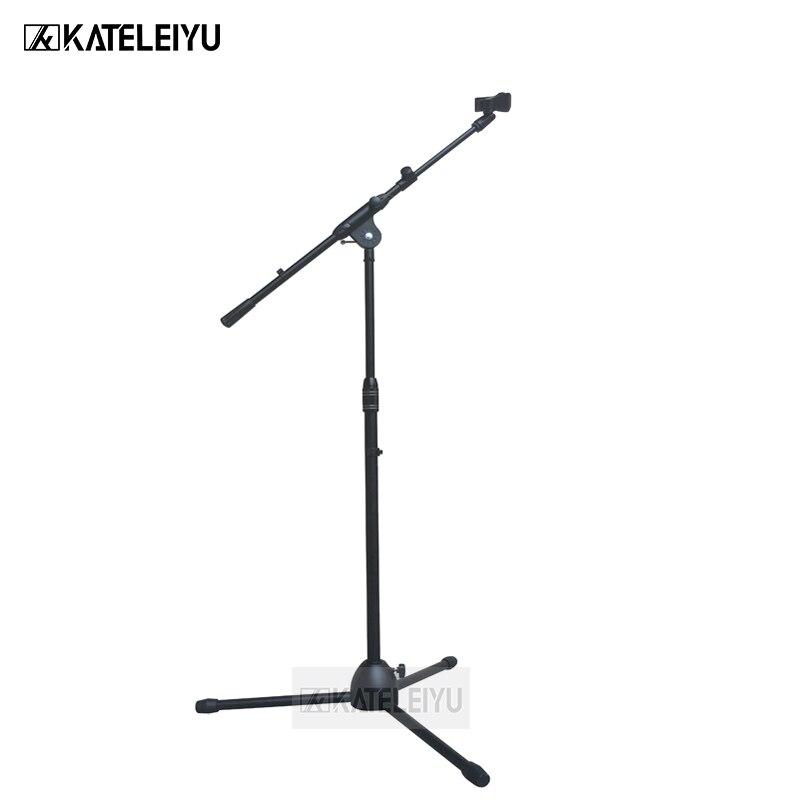 все цены на BY-752 Professional swing boom floor stand microphone holder Flexible Stage Microphone Stand Tripod онлайн