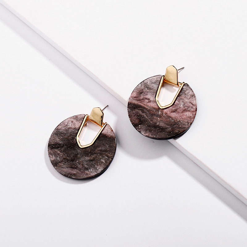 Aaliyah Statement Earrings in Abalone Shell