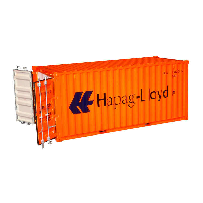 Collectible Diecast Toy Model Gift 1:20 Scale Hapag-Lloyd 20 GP Truck,Shipping Container Model For Business Gift, Decoration