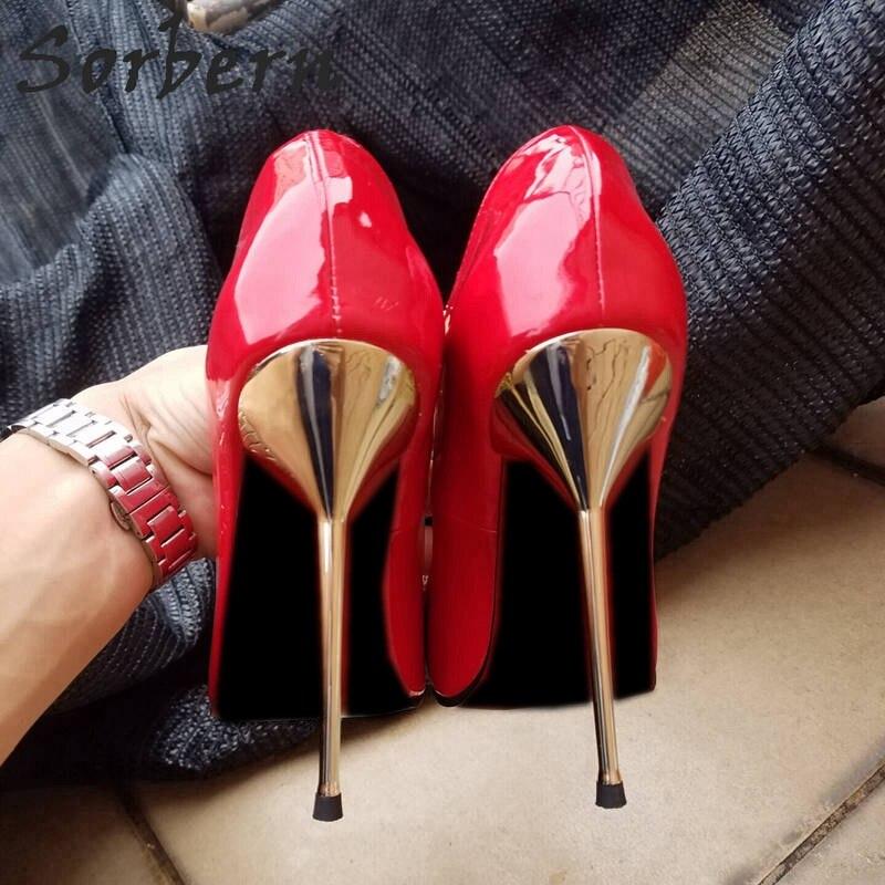 Ayakk.'ten Kadın Pompaları'de Sorbern Uzun Sivri Toes Kadın Pompa 12 Cm Yüksek Topuklu Ayakkabılar Bayanlar Boyutu 44 Topuklar Akşam Ayakkabı Metal Stilettos Topuk kayma Unisex'da  Grup 3