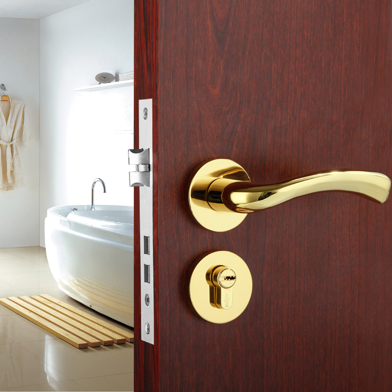 European style door locks interior bedroom door handle - Door handles with locks for bedrooms ...