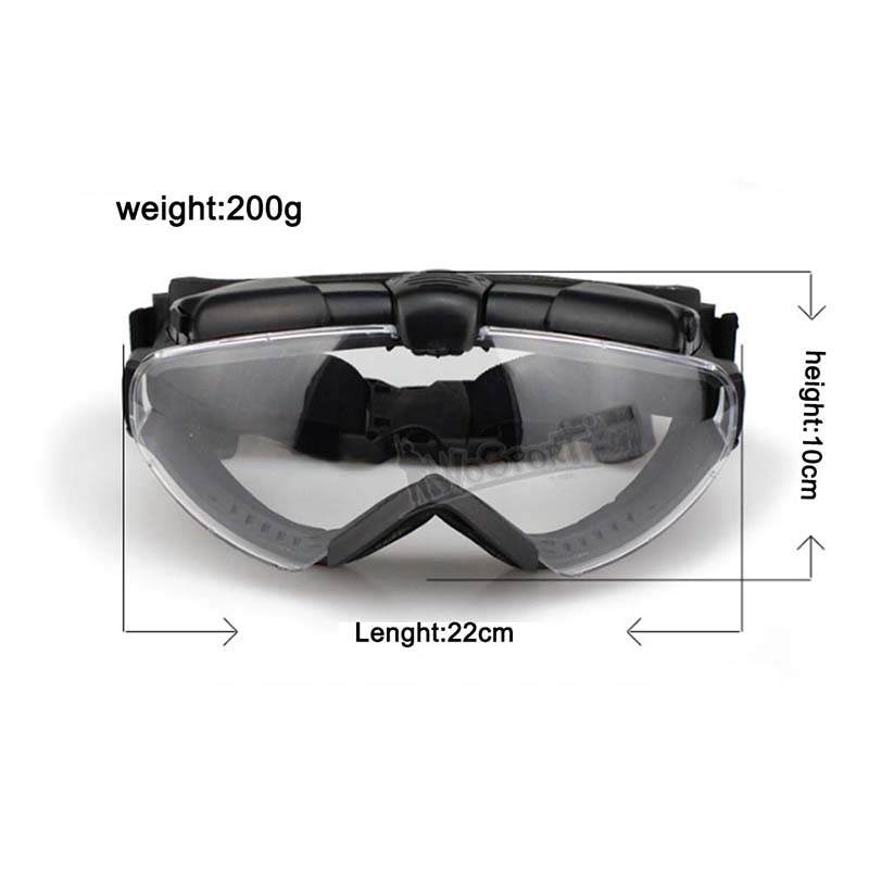 96eac2333c1 Tactical CS Bullet proof Goggles Windshield Motorcycle Cycling Lightweight Eyewear  Skiing Snowboard Anti fog Military Glasses -in Skiing Eyewear from Sports  ...