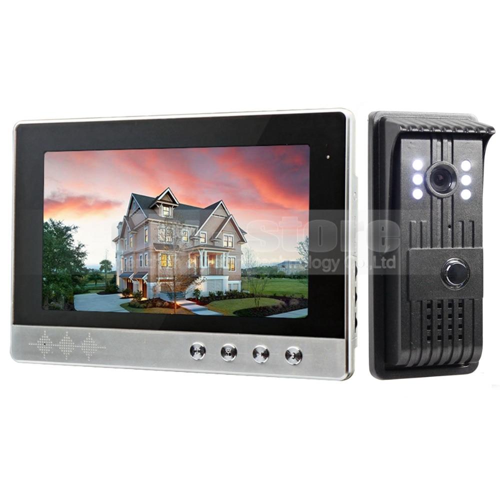 DIYSECUR 10 inch Video Door Phone Intercom Doorbell + 700 TV Line LED Night Vision Camera Home Security System