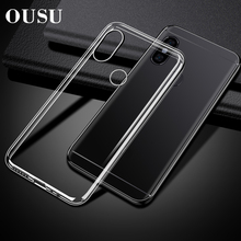 OUSU Original Quality Soft Transparent TPU Phone Case For xiaomi Mi 8 lite a2 6 Max 3 Mix redmi Note 5 pro 7 4 Cover