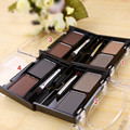 Brand New Eyeshadow Eyebrow Cake Makeup 2 Color Waterproof Eyebrow Powder, Eye Shadow Eye Brow Palette + Brush Eyebrow Enhancer