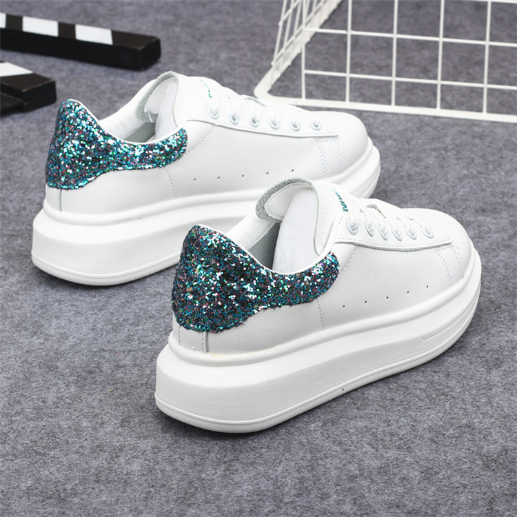 New Fashion Vulcanize Shoes Trainers Women Sneakers Casual Shoes Basket Femme PU Leather Tenis Feminino Zapatos Mujer Plataforma 72