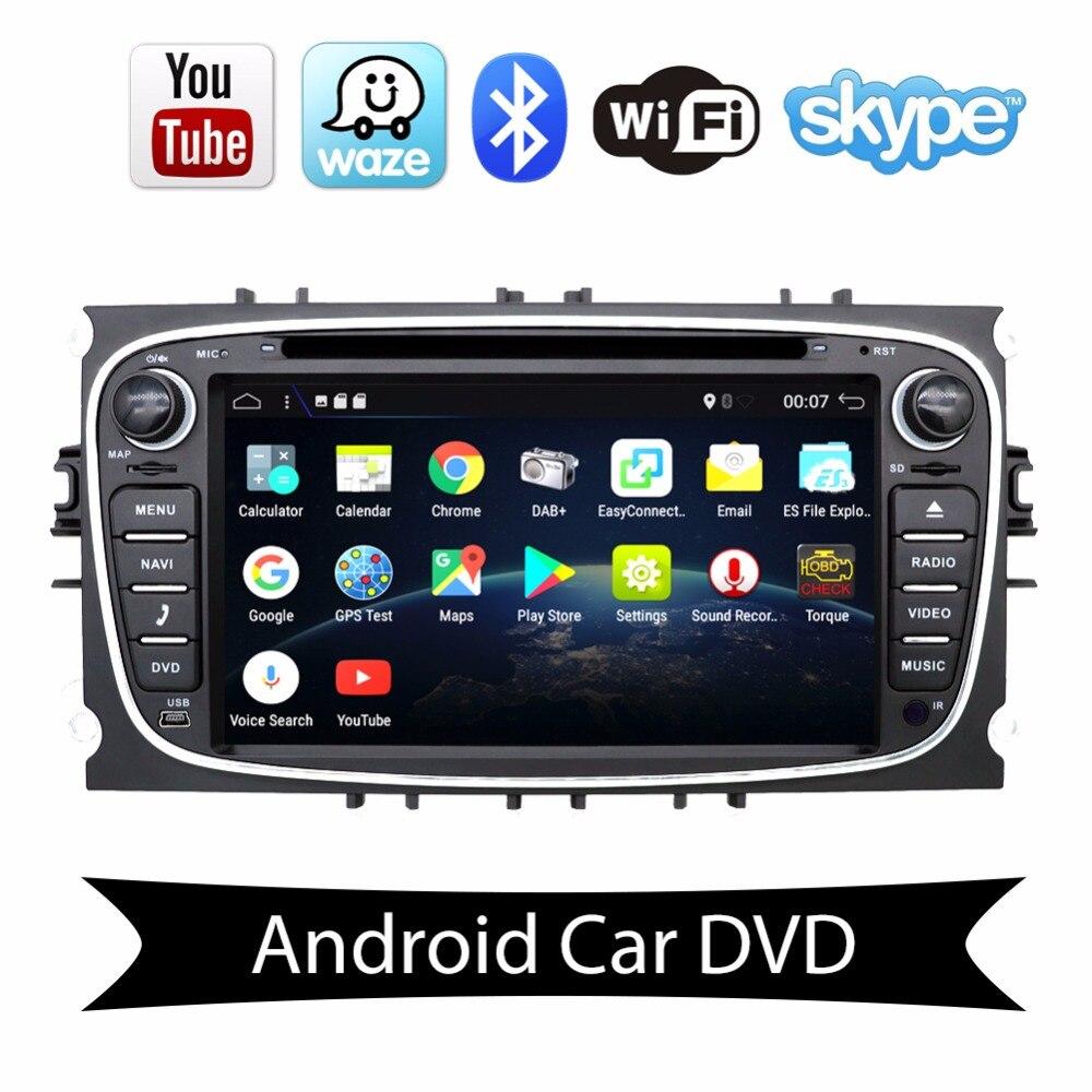 2 autoradio DVD GPS lecteur pour ford focus 2 avec GPS Navigation Radio BT WIFI Android 7.1 Quad core 2G RAM 4G LTE