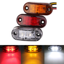 10pc 24/12v Led Side Marker Blinker Lights for Trailer Trucks Piranha Caravan Side Clearance Marker Light Lamp Amber Red White(China)