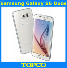 "Original Samsung Galaxy S6 Duos 3GB RAM 32GB ROM Octa Core Dual SIM Android Mobile Phone 16.0MP 5.1"" WIFI GPS Freeshipping(China)"