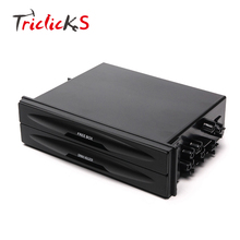 Triclicks 175*45mm Double Din Dash Radio Installation Pocket Cup Holder Storage Box For Car PP Aemrest Storages Container