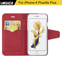 IMUCA Luxury Leather Case For IPhone 6S Plus 6 Plus 5 5 Flip Stand Case Cover