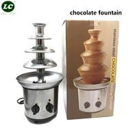 4 layer Chocolate Fondue Fountain Tower Maker Chocolate Runing Machine Festive Party Homy Use