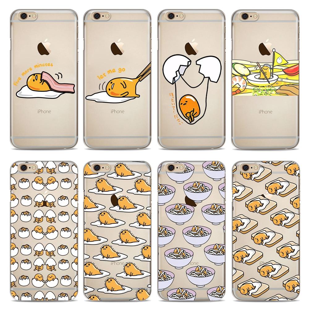 268ea1d66 Cute Gudetama Cartoon Egg Soft Silicone Phone Case For iphone X XS Max XR 8  8 Plus