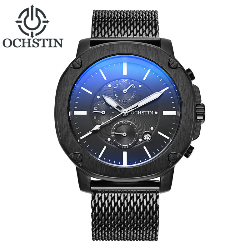 New Men Watches Top Brand Luxury OCHSTIN Waterproof Date Clock Male Steel Strap Casual Dress Quartz Watch Men Wrist Sport Watch top brand luxury new silver watch women dress watches fashion men date leather stainless steel sport quartz wrist watch clock a1