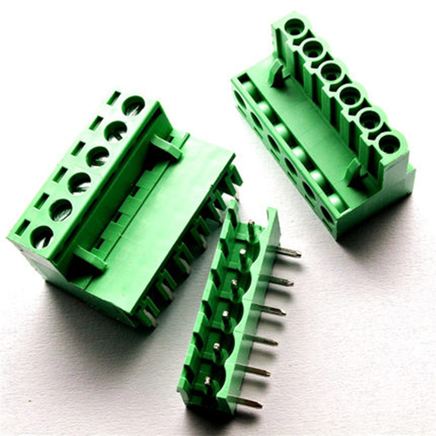 5 sets 5.08 6pin Right angle Terminal plug type 300V 10A 5.08mm pitch connector pcb screw terminal block Free shipping 50pcs 5 08mm pitch right angle 10 pin 10 way screw terminal block plug connector 2edg