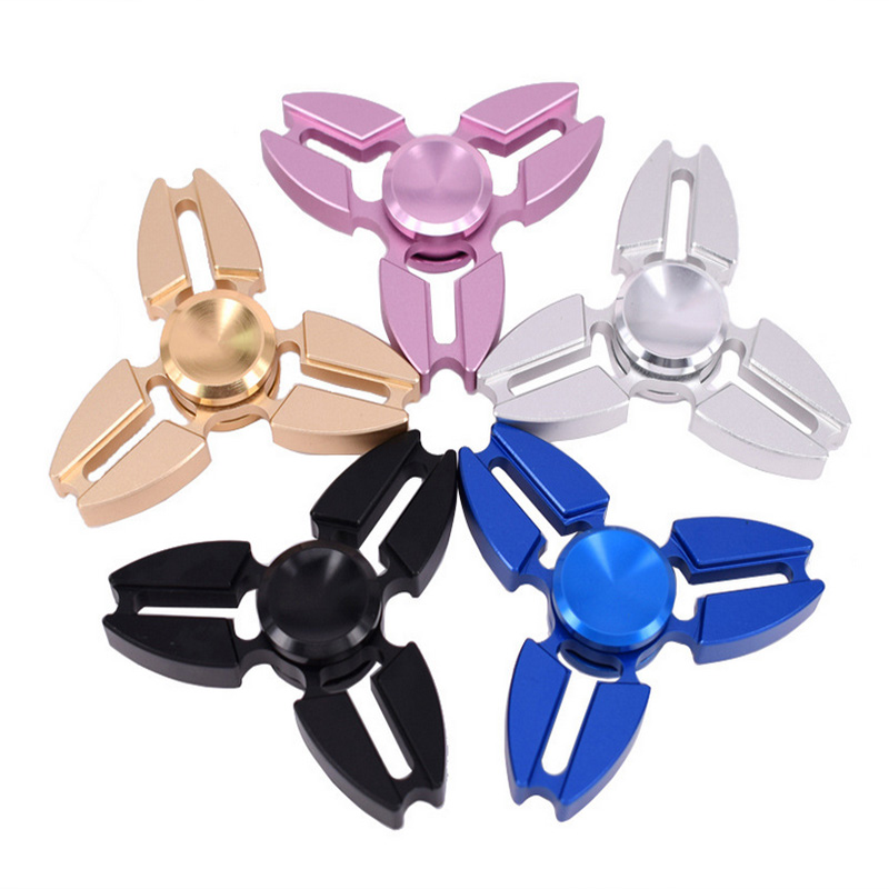 Aluminum Alloy Long Time Fidget Spinner Hand Spinner Toy ADHD Stress Relief Tri-spinner Anti Funny EDC Rotation Kid Toy Gifts 25