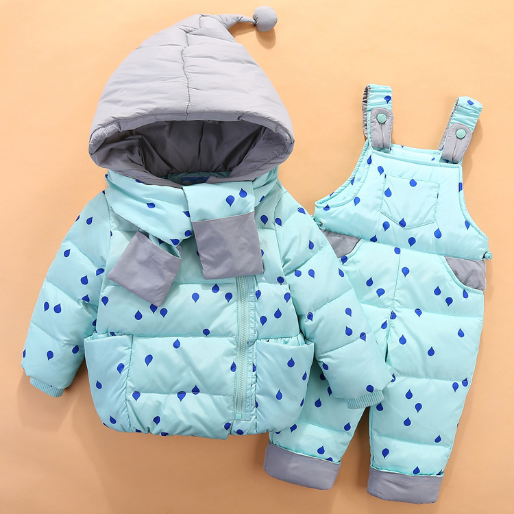 19 Children Down Clothing Sets 2 PCS Coat + Trousers Winter Kids clothes Down jacket Suits Boys & Girls Hooded Outerwear Suit 9