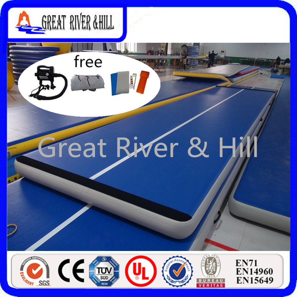 Great River Hill air track 6MX2MX0.2M inflatable gym mat with Fedex shipping to your door