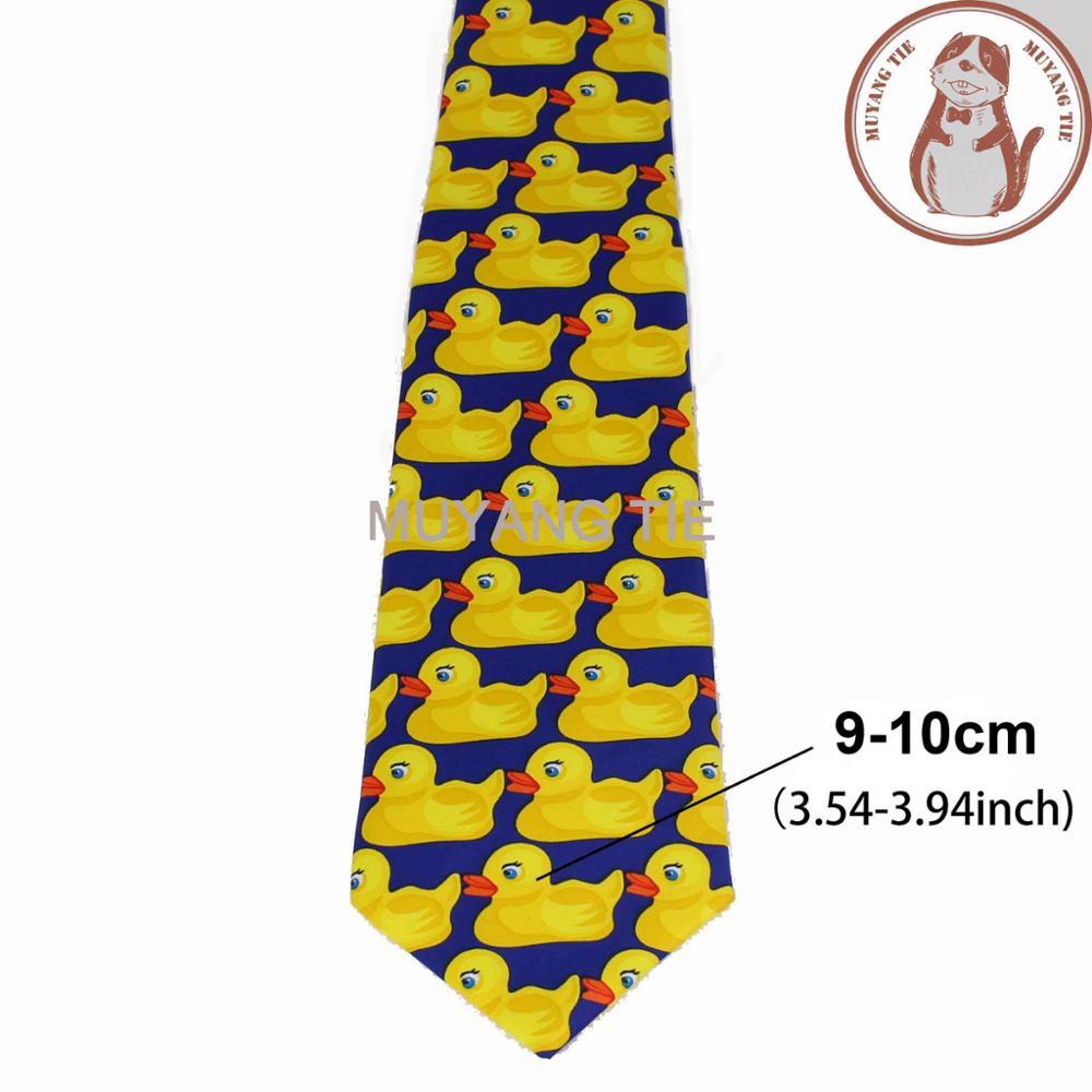 Желтая резиновая утка галстук мужской Модный повседневный необычный Ducky Профессиональный галстук четыре размера Галстуки - Цвет: 3