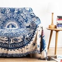 Северной Европы белый Star кондиционер одеяло Цвет хлопок одеяло ретро ностальгия